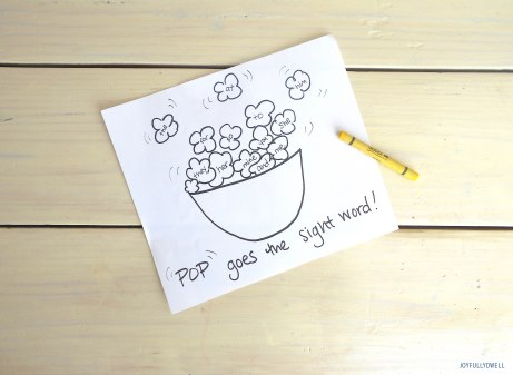 popcornworksheet